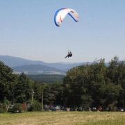 Tandem paragliding Javorový Oldřichovice parkoviště pod Javorovým