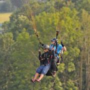 Tandem paragliding Javorový vrch