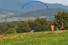 Paragliding - Let na tandemovém padáku na Javorovém v Beskydech