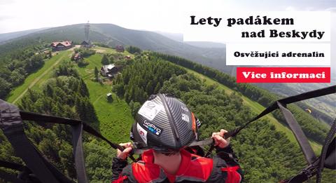 Paragliding v Beskydech - Vyhlídkové lety na Javorovém a v okolí Třince